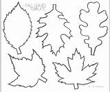 Leaf Printable Template Clip Oak Coloring Clipart Leaves Craft Pages sketch template