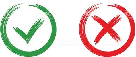 Ilustración De Marca De Color Verde Ok Y X Los Iconos Rojo