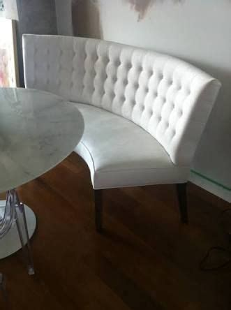 upholstered curved dining bench   google search