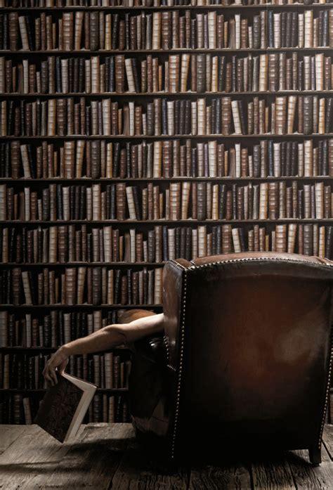 bookshelf wallpaper bookcase wallpaper the green head