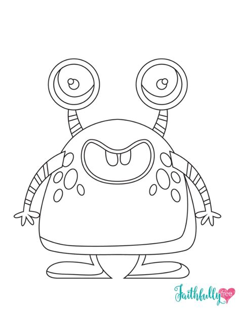 Monster Coloring Pages {Free Printables} Monster