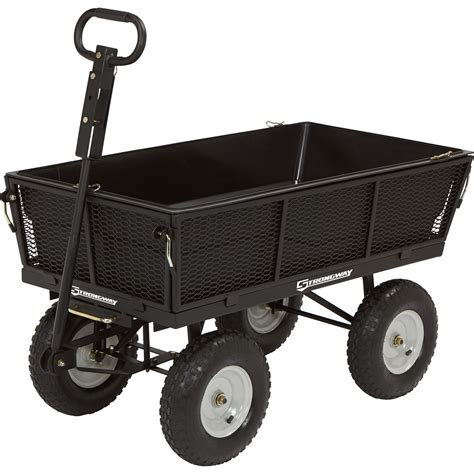 Strongway Steel Garden Wagon With Liner — 1,200lb