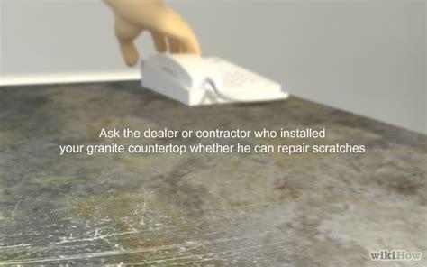 remove a scratch from a granite countertop step 2 jpg