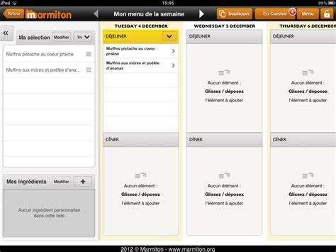 menu semaine cuisine az marmiton mon menu de la semaine planificateur de menus