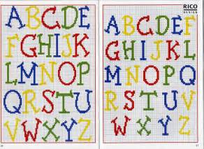 Free Cross Stitch Alphabet Chart