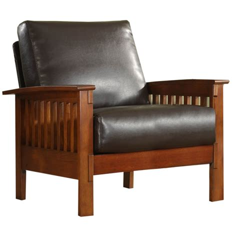 mission leather chair shop home sonata mission shaker oak faux leather accent