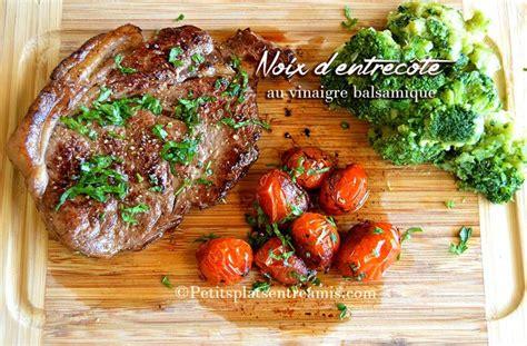 cuisiner entrecote recette d 39 entrecôte au vinaigre balsamique petits plats