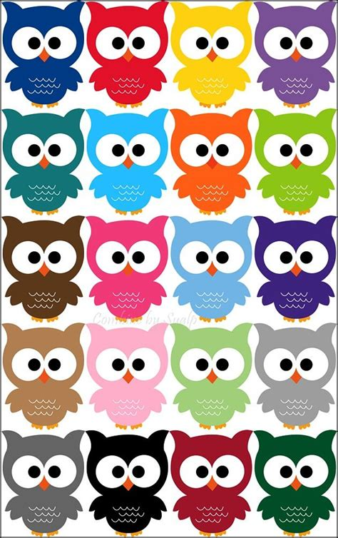 owl colors 20 adorable owl printables ohh these are so so