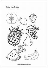 Coloring Fruit Fruits Sheet Vegetable Printable Grapefruit Worksheet Vegetables Sheets Megaworkbook Template Colors Activities sketch template