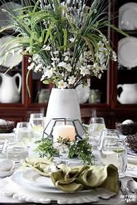 beautiful table settings Beautiful, Natural Table Setting for Spring - Setting for Four
