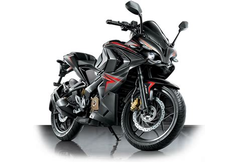 bajaj pulsar rs  demon black  carblogindia