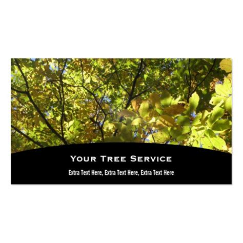 tree service business cards designs - Tree Service Business Cards