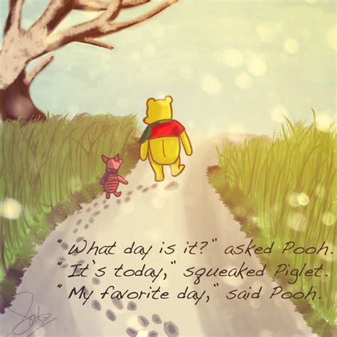 day   asked pooh  today squeaked