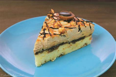 toffifee torte rezept toffifee torte backen karamell nougat torte absolute