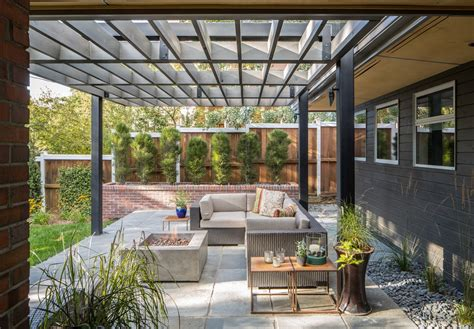 Modern Patio With Exterior Stone Floors By Design Platform