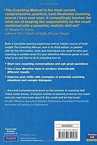 Libro The Coaching Manual  The Definitive Guide To The