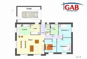 plan maison 3 chambres plain pied garage avie home plan With plan de maison plain pied gratuit 3 chambres sans garage