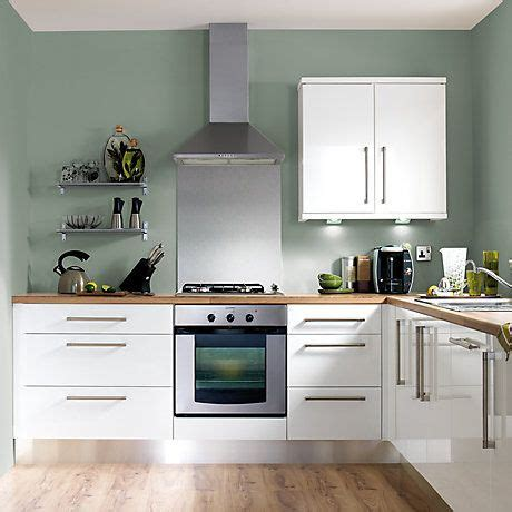 Kitchen Paint Colors B And Q by Cooke Lewis High Gloss White Kitchen Ranges Kitchen