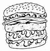 Coloring Cheeseburger Tattoo Cartoon Pages Shirt Printable Designs Junk Bad Getcolorings Sheet sketch template