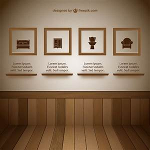 Wall with frames exhibit room vector free download