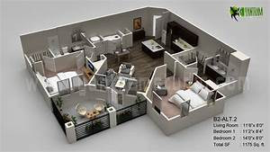 3D floor plan, Interactive 3D Floor Plans design, virtual ...