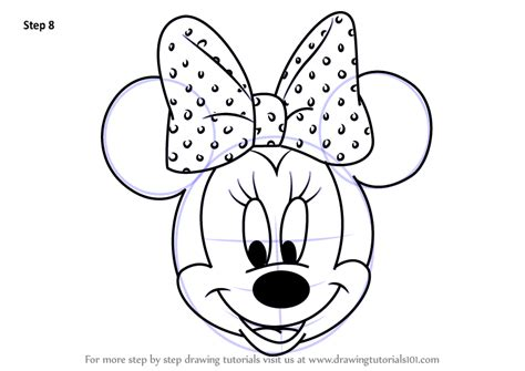 learn   draw minnie mouse face  mickey mouse