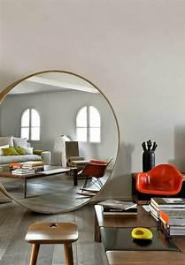 le miroir decoratif en 50 photos magnifiques With meuble salon contemporain design 9 miroir de decoration en bois massif soleil rond bois