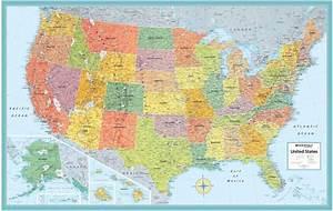Rand McNally Style United States USA-US Large Wall Map
