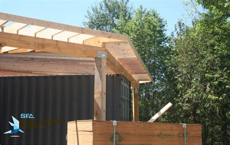framing   shipping container cabin project summer  sea container cabin