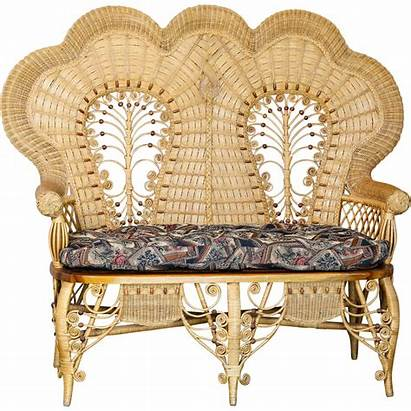 Victorian Wicker Furniture Loveseat Stick Ball Magnificent
