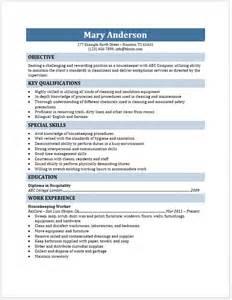 sle resume domestic housekeeper housekeeper resume free layout format