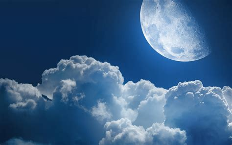 Moon And Clouds Wallpaper by Space Cloud Clouds Moon Planet World Heaven Sky