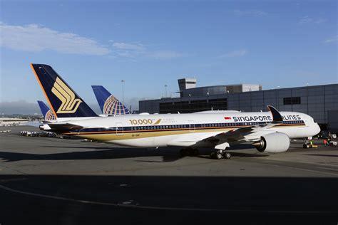 singapore begins singapore airlines begins nonstop service between san