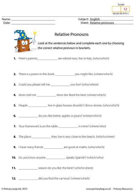 subject pronouns worksheets indirect