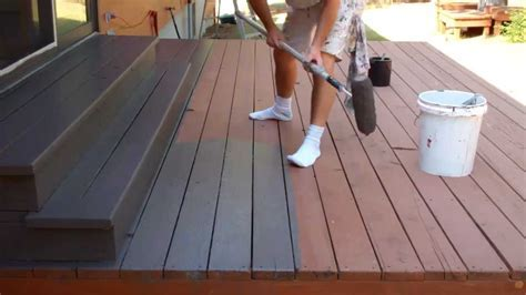 Exterior Painting Step 9: Staining the Deck   YouTube