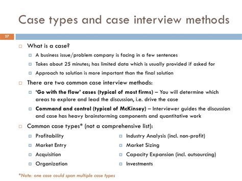 interview case case study interview types
