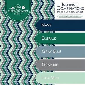 Inspiring Color Combinations: Navy, Emerald, Mint & Gray