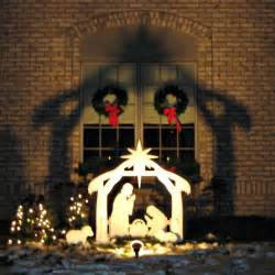 amazon com teak isle christmas outdoor nativity set yard nativity scene garden outdoor
