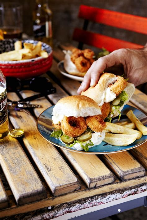 calamari po boy slider recipe sbs food