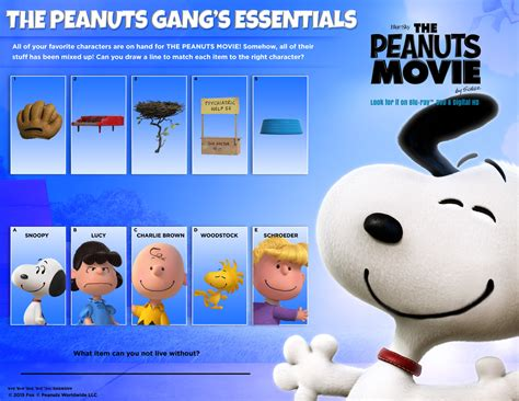 Printable Peanuts Activity Pages For Kids' Summer Fun