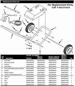 Campbell Hausfeld Pw3221 Pressure Washer Parts Repair Kits