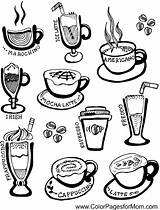 Coffee Coloring Adult Adults Wine Cup Colour Tea Colorpagesformom Dover sketch template