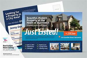 Real Estate Listing Flyer Template Free Real Estate New Listing Postcard Card Templates On