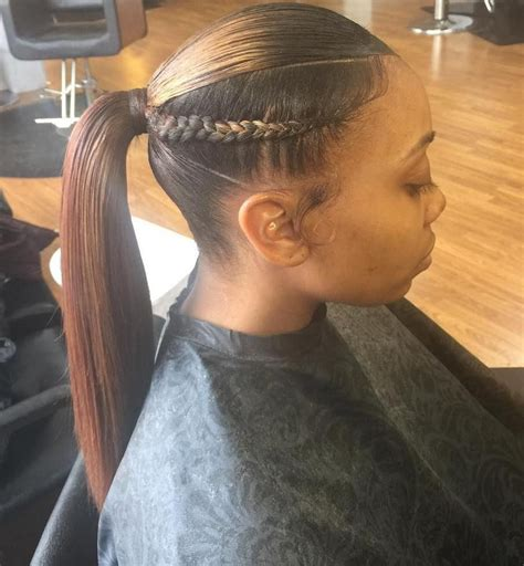 American Ponytail Hairstyles by Braided Ponytail Ideas 40 Ponytails With Braids In