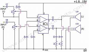 Stereo Amplifier Circuit Tda2822m