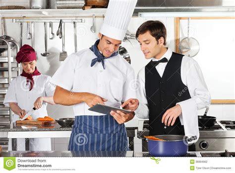 tablette cuisine cook tablette d 39 and chef digital de serveur dans la