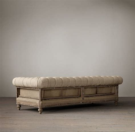 Restoration Hardware Settee by Deconstructed Chesterfield Upholstered Sofa In 2019 For