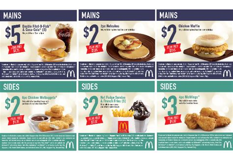 48330 Mcdonalds Menu Coupons by Mcdonald S Coupon Deals For Dine In Takeaway 10 20 Dec