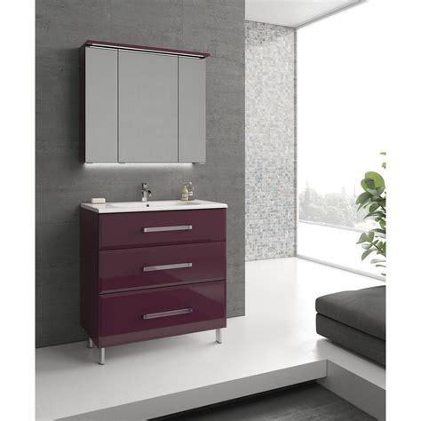 meuble de cuisine aubergine tabouret salle de bain blanc
