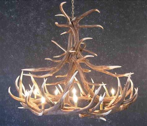 how to make antler chandelier